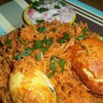 Egg Biryani Made in Pressure Cooker