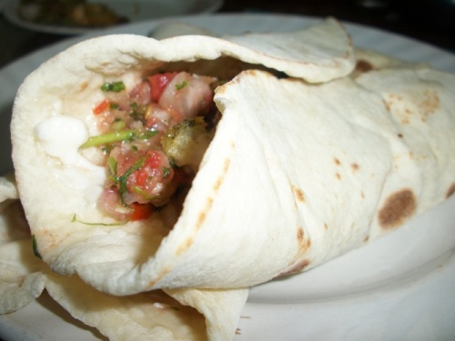 Pita bread and Fresh Salsa (with Yeast and made in Oven)