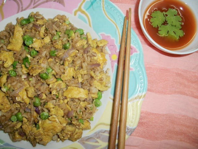 Simple Stir Fried Rice with leftover Rice