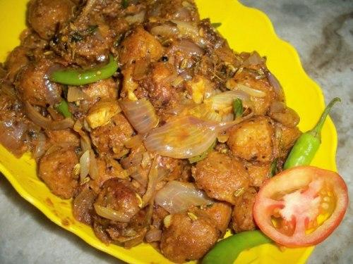 Chukka Soya Chunks Curry (Meal Maker)