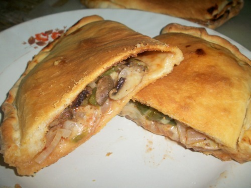 Calzone Stuffed with Mushroom and Cheese