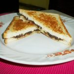 Caramelized Onion and Cheese Sandwich