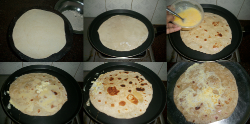Chicken kathi rolls yummy tummy roll the roti and toast it in tawadrizzle some egg over the top and cook on both sides till golden and egg sets forumfinder Image collections