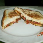 Indian Style Grilled Cheese Sandwich with Tomato Chutney
