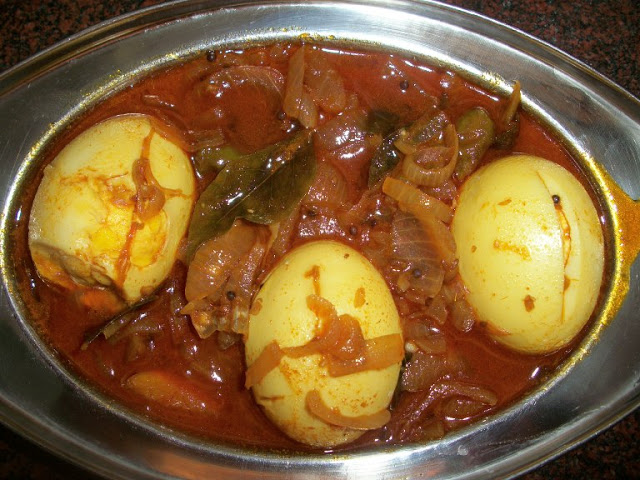 Egg Pulusu / Egg Cooked in Tamarind Sauce
