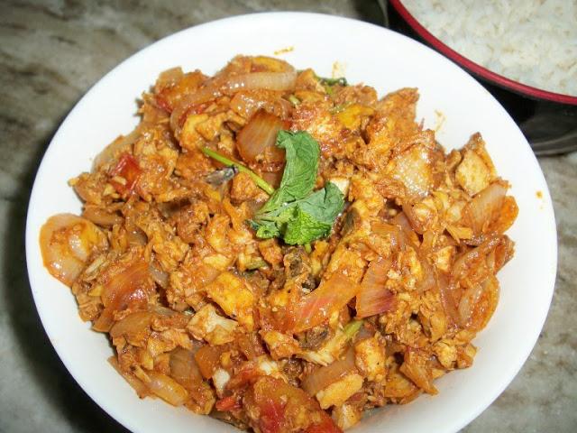 Fish Subzi (Stir fried Fish)