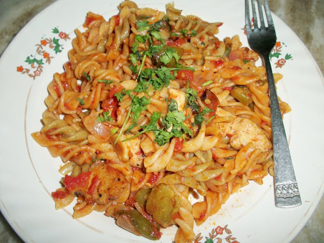 Grilled Chicken and Pepper Pasta