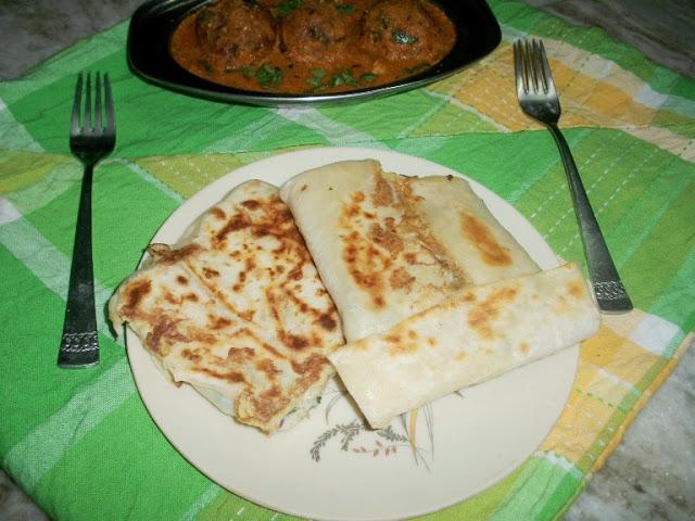 Mughlai Paratha(Paratha Stuffed with Egg)