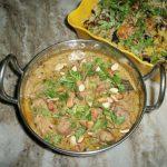 Mughlai Chicken(Chicken Cooked in a Creamy Cashew Sauce)