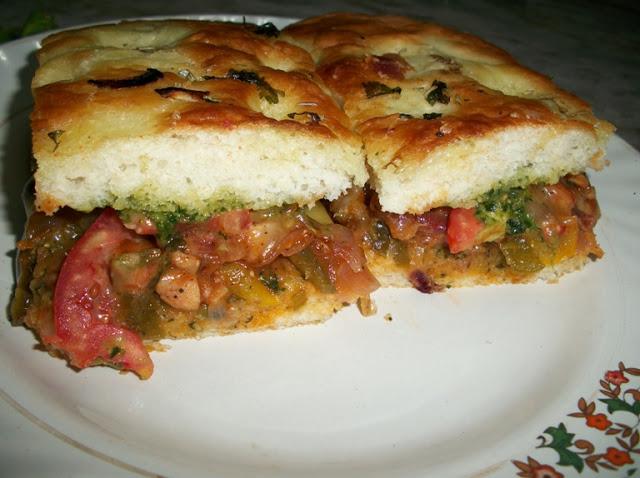 Chicken & Pesto Sandwich with Focaccia Bread