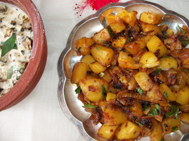 Keralan Potato Roast - Yummy Tummy