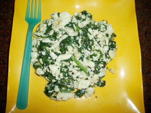 Scrambled Egg with Spinach