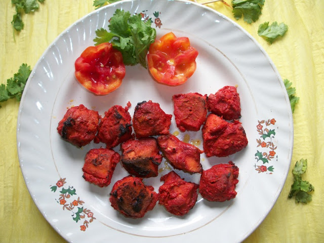 Chicken Tikka made in Oven