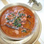 Kadala Theeyal ( Chana cooked in a Spicy Roasted Coconut Gravy)