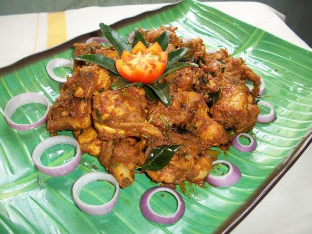 Andhra Kodi Roast / Chicken Roast with Red Chilli Sauce