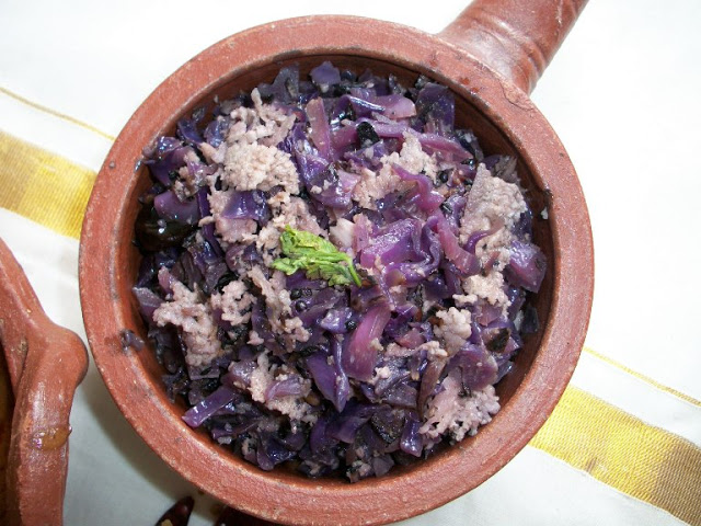 Keralan Cabbage Poriyal with Coconut