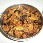 Andhra Eggplant Poriyal / Vankaya Vepudu