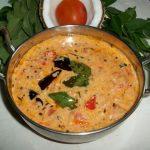 Thakali Pachadi / Tomato Pachadi / Tomatoes Cooked in a Coconut Yogurt Sauce