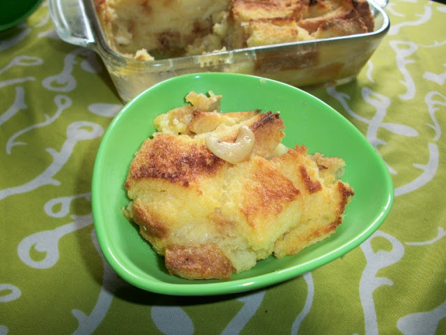 Baked Eggless Bread Pudding – Indian Style