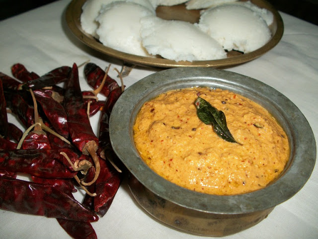 Garlic Chutney With Coconut & Chillies