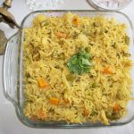 Spicy Vegetable Pilaf Recipe / Vegetable Pulav Recipe