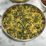 Murungai Keerai Thoran / Drumstick Leaves with Coconut & Shallots