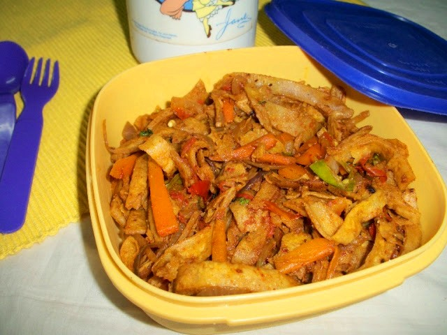Chapati Noodles – For Left Over Chapati / Lunch Box Recipes