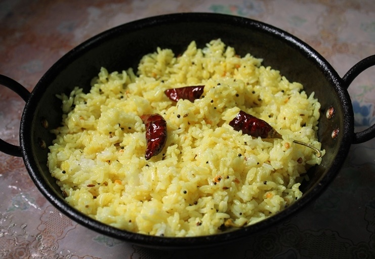 Lemon Rice – Recipe for Leftover Rice / Lunch Box Ideas
