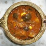 Brinjal Puli Kulambu / Brinjals Cooked in a Spicy Tamarind Sauce