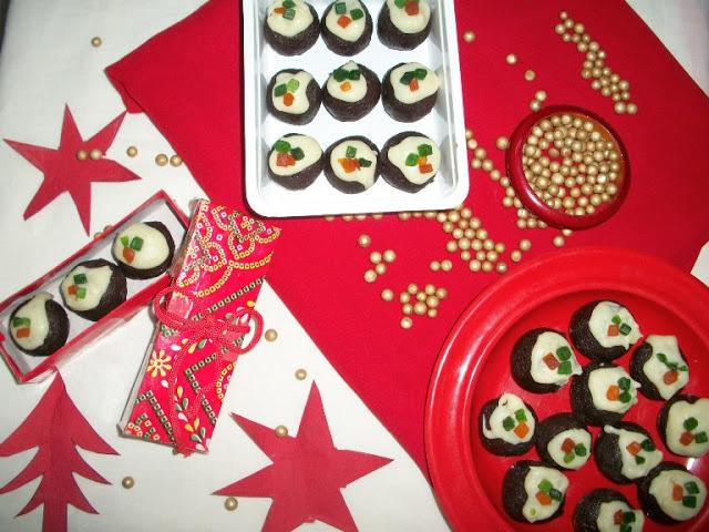 Christmas Bon Bons / Rich Chocolate Balls – Christmas Recipes / Christmas Gift Ideas - Yummy Tummy