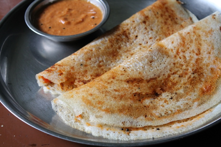 Mysore Sada Dosa / Mysore Sada Dose / How to make Red Chutney for Mysore Dosa  – Dosa Recipes