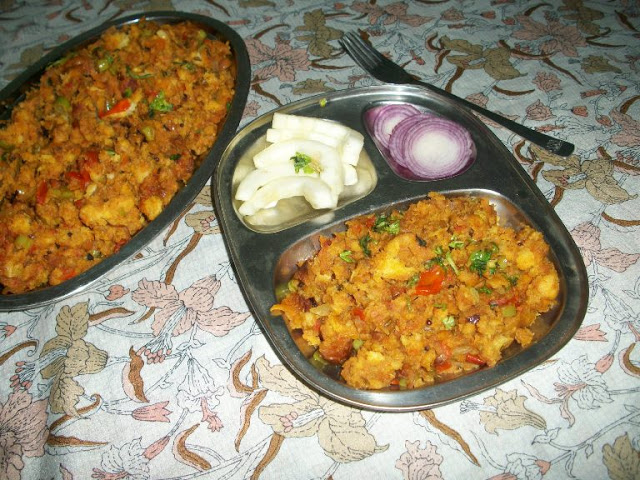 Vegetable Bread Upma / Bread Upma with Mixed Vegetables – Lunch Box Ideas