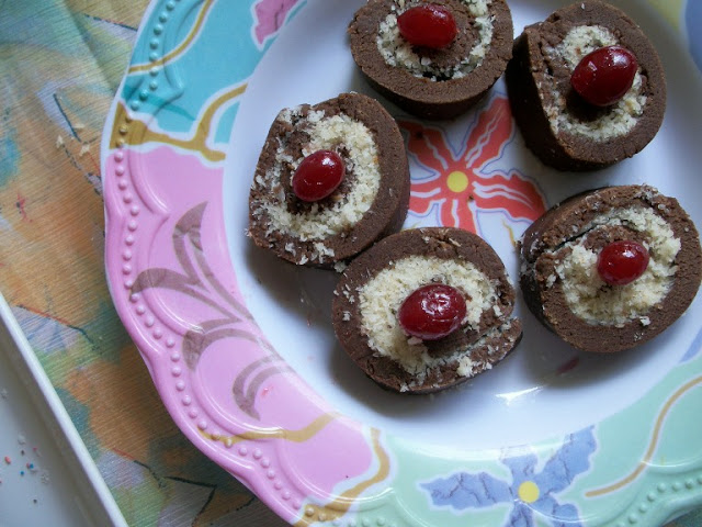 Chocolate Roll with Sweet Coconut Filling for  New Year – 2012