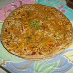 Stuffed Paneer Paratha / Spiced Cottage Cheese Stuffed Paratha / Paneer Paratha – Lunch Box Ideas
