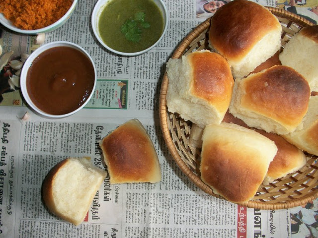 Homemade Soft & Fluffy  Pav Buns / White Dinner Rolls / Indian Pav / Indian Bread for Pav Bhajji