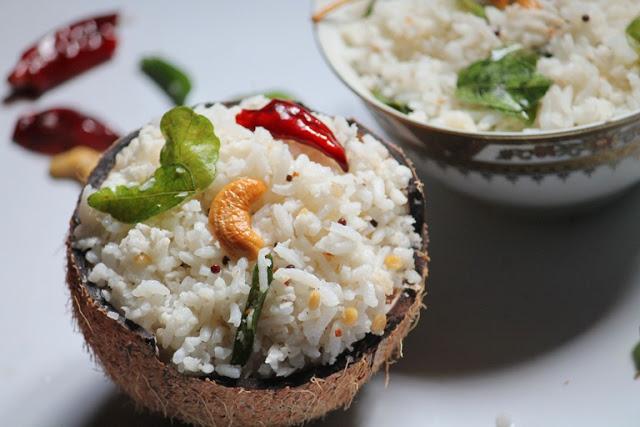 Coconut Rice  / Thengai Sadam  – A South Indian Favourite