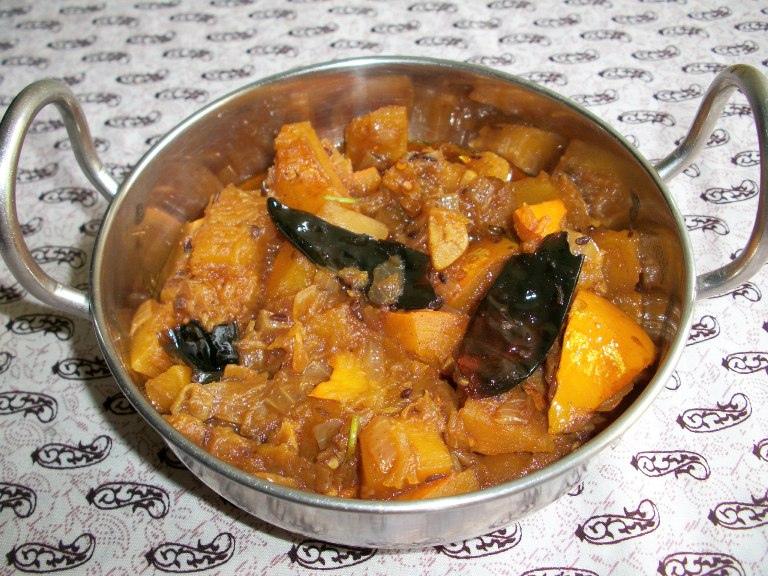Rajasthan Kaddu Ki Subzi / Pumpkin Subzi  / Sweet and Sour Pumpkin / Pumpkin Curry – Rajasthani Style