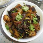 Aloo Methi Subzi / Methi Aloo / Fenugreek Potato Fry / Potatoes with Fenugreek Leaves – Rajasthani Style