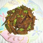 Rajasthani Bhindi / Okra with Spiced Gramflour Stuffing / LadysFinger Fry- Rajasthan Style– No Onion & No Garlic Recipes