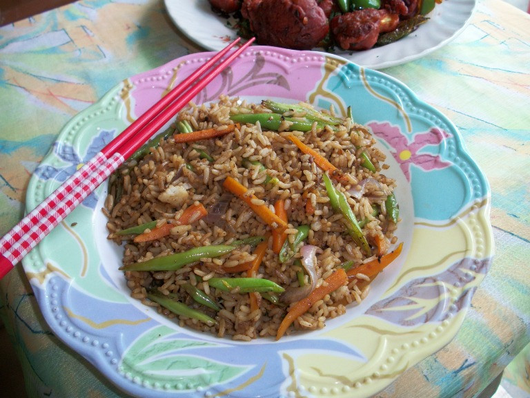 Vegetable Fried Rice  (Indo Chinese Style ) / How to Prepare Vegetables for Fried Rice (Step by Step) – Lunch Box Ideas / Leftover Rice Recipes