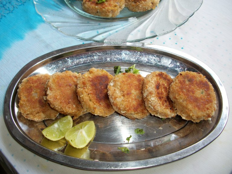 Soya Chunks Cutlet (Pan Fried) / Meal Maker Cutlet / Soya Cutlet / Soya Patties / Soya Pattice – Filling for Burger / Snacks Ideas / Non-Veg Substitutes
