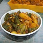Bhinda Bataka / Bhindi Batata / Gujarati Okra Potato Curry / Potato & LadysFinger  Subzi (Sabzi) / How to make Leelo Masalo or Gujarati Fresh Masala