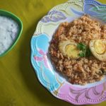 Egg Rice / Tomato Flavoured Masala Rice with Spiced Up Eggs – Leftover Rice Ideas / Lunch Box Ideas