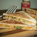 Cheese Spread Sandwich with BellPeppers – Kids Special Recipes / Under 30 mins