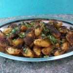 Chukka Aloo Sabzi / Dry Potato Curry / Crispy Masala Coated Potatoes