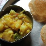 Traditional Poori Masala / Puri Masala / Potato Masala for Poori