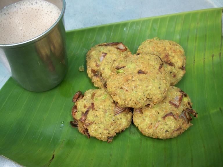 Green Peas Vadai / Pattani Vadai / Batani Vade – Vadai Recipes
