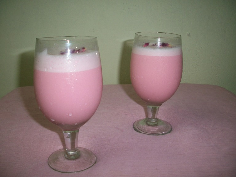 Rose Milk Shake / Rose Milk – Kids Special Recipes / Summer Recipes