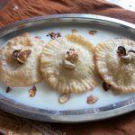 பால் போளி  / Stuffed Pal Poli / Milk Poli / Fried  Poori's Filled with Khoya & Soaked in Creamy Milk Sauce – Traditional Recipe