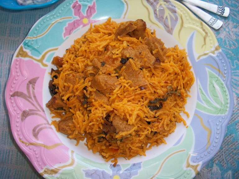 Soya Chunks Biryani / Meal Maker Biryani made in Pressure Cooker – Lunch Box Ideas